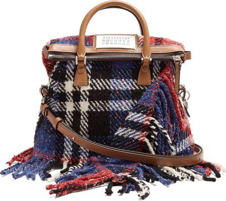 Maison Margiela 5AC mini tweed cross-body bag