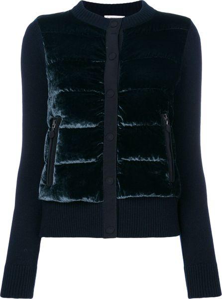 Moncler velvet padded front jacket