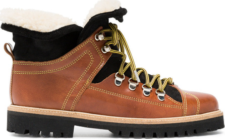 Ganni Edna leather hiking boots