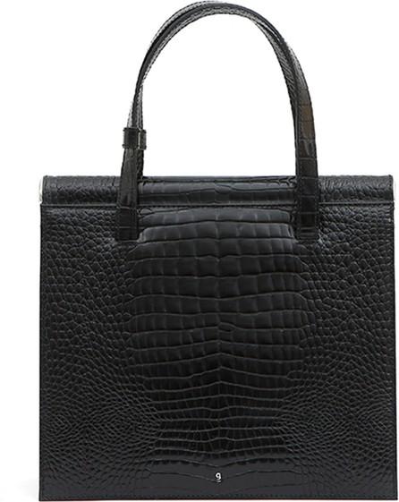 Gu_de Trip Stamped Crocodile Shoulder Bag