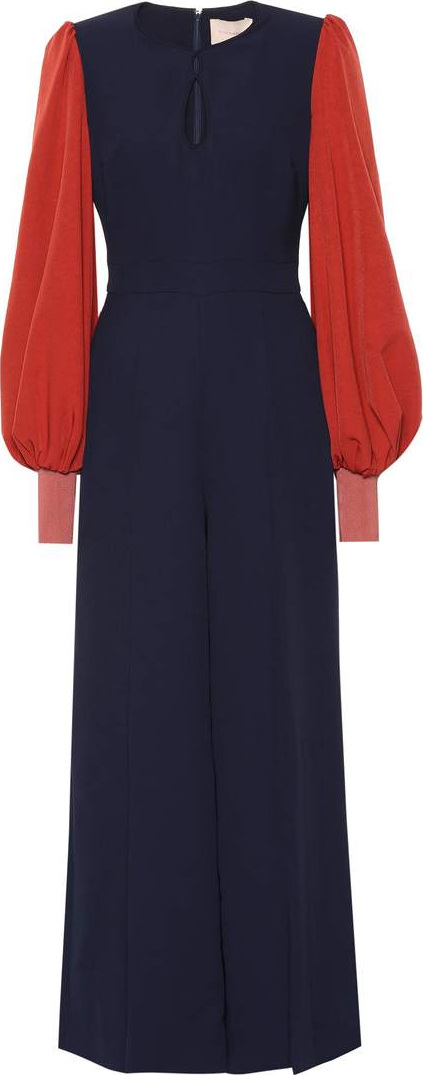 Roksanda Colorblocked cady jumpsuit
