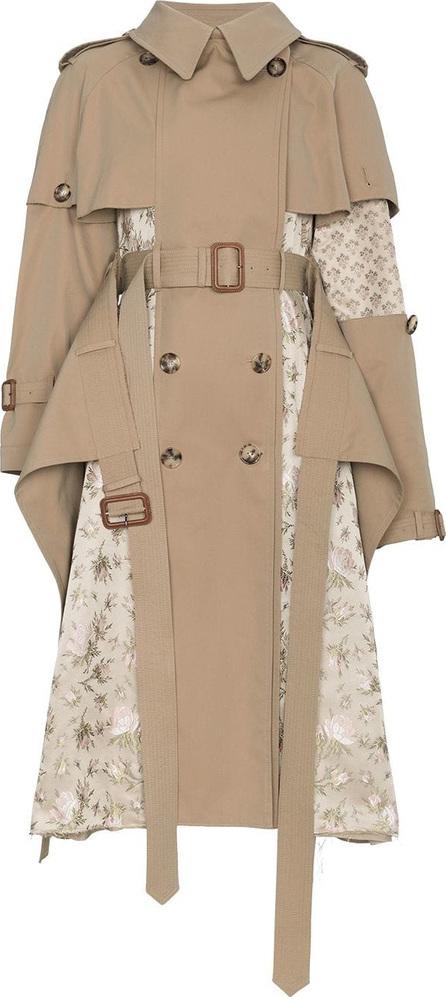 Alexander McQueen Silk Floral Jacquard Patchwork Trench Coat
