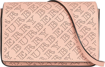 Burberry London England Hampshire Perforated Leather Shoulder Bag, Pale Fawn Pink