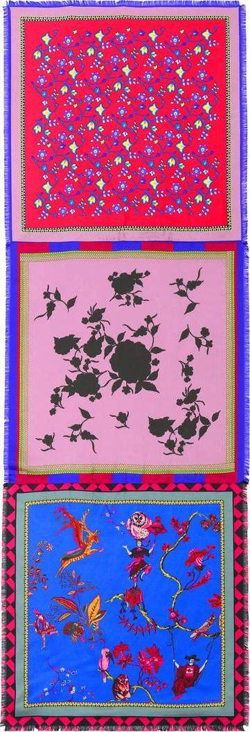 Etro - Printed silk scarf