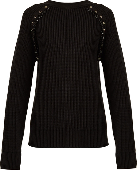Nº21 Embellished ribbed-knit wool sweater