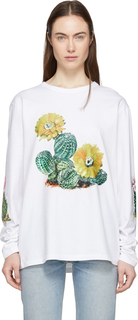 Bianca Chandon White Cactus Long Sleeve T-Shirt