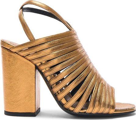 Alumnae Ankle Wrap Leather Mignon Heels