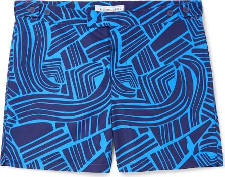 Frescobol Carioca Tidal Mid-Length Printed Swim Shorts