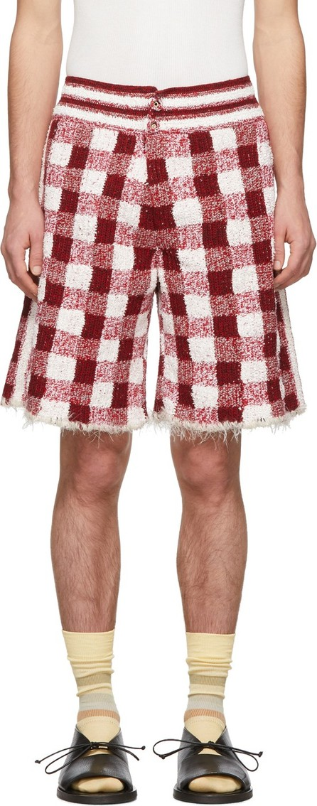 Judy Turner Red & White Crochet Dean Shorts