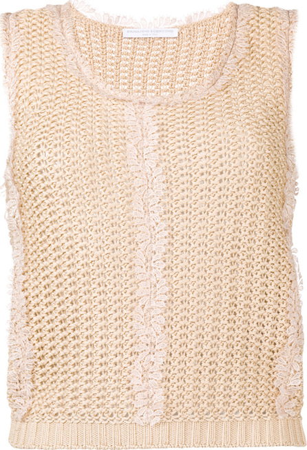 Ermanno Scervino Sleeveless knitted top