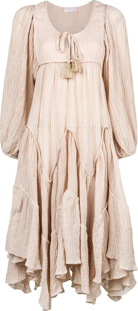 Zimmermann Bayou Chevron tier dress