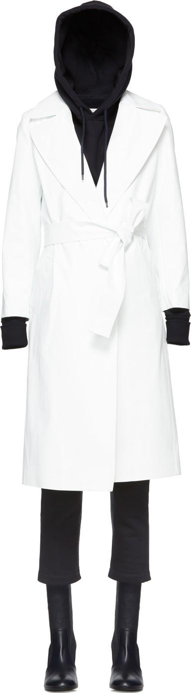 A_Plan_Application White Rubberized Rain Coat