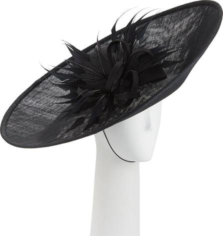 Rachel Trevor Morgan Straw Side Sweep Hat w/ Arrow Feathers