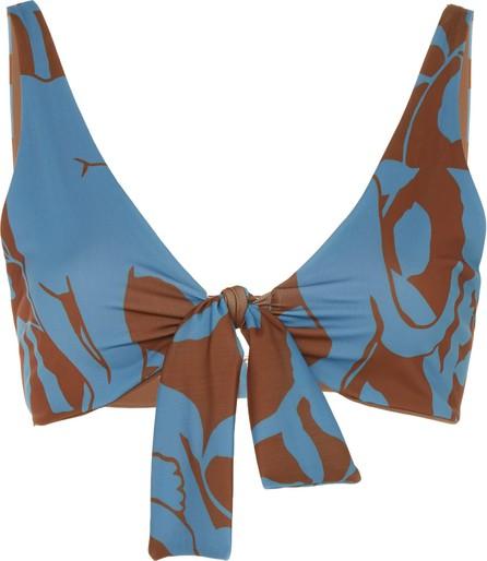 Johanna Ortiz Exclusive Tangled Up In Blue Printed Bikini Top