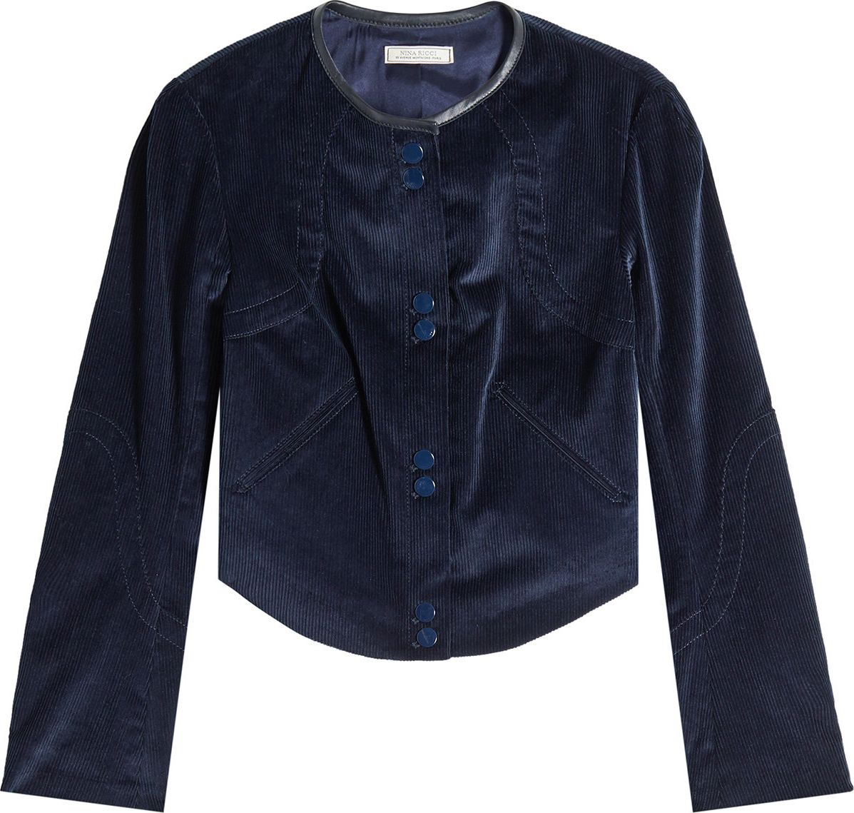 Nina Ricci - Corduroy Jacket with Leather Trim