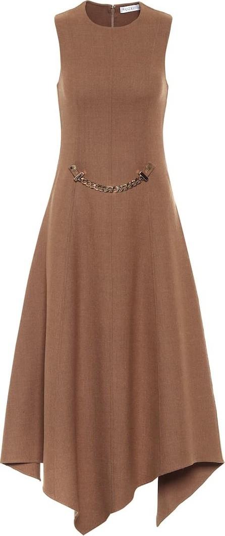 J.W.Anderson Asymmetric stretch-wool midi dress