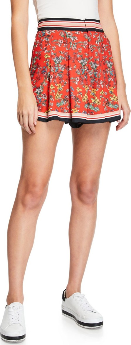 Alice + Olivia Scarlet High-Waist Flutter Shorts