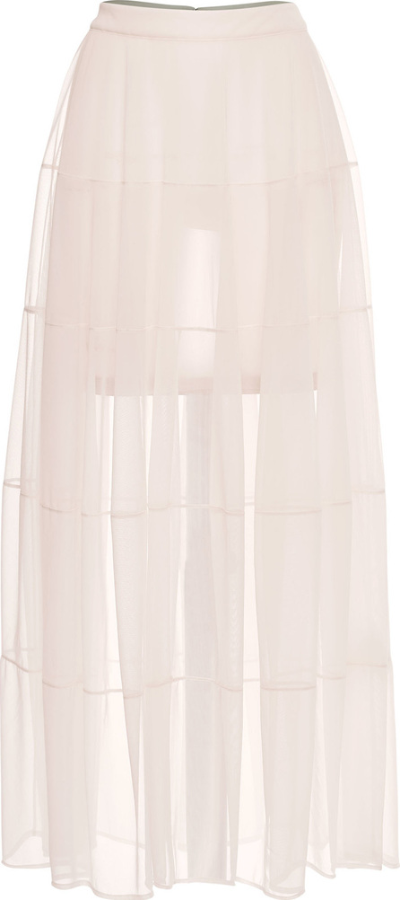 Jil Sander Jersey Skirt with Sheer Overlay