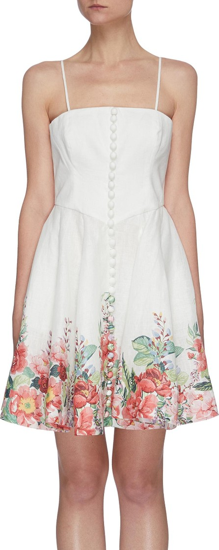 Zimmermann ''Bellitude' scalloped frill bustier linen dress