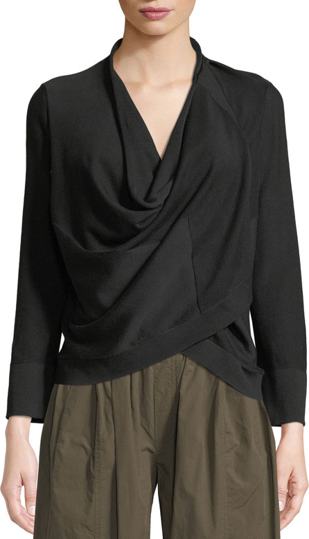 Urban Zen Transformer Cowl-Neck Long-Sleeve Jersey Top