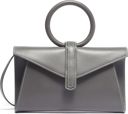Complét 'Valery' ring handle mini leather envelope clutch