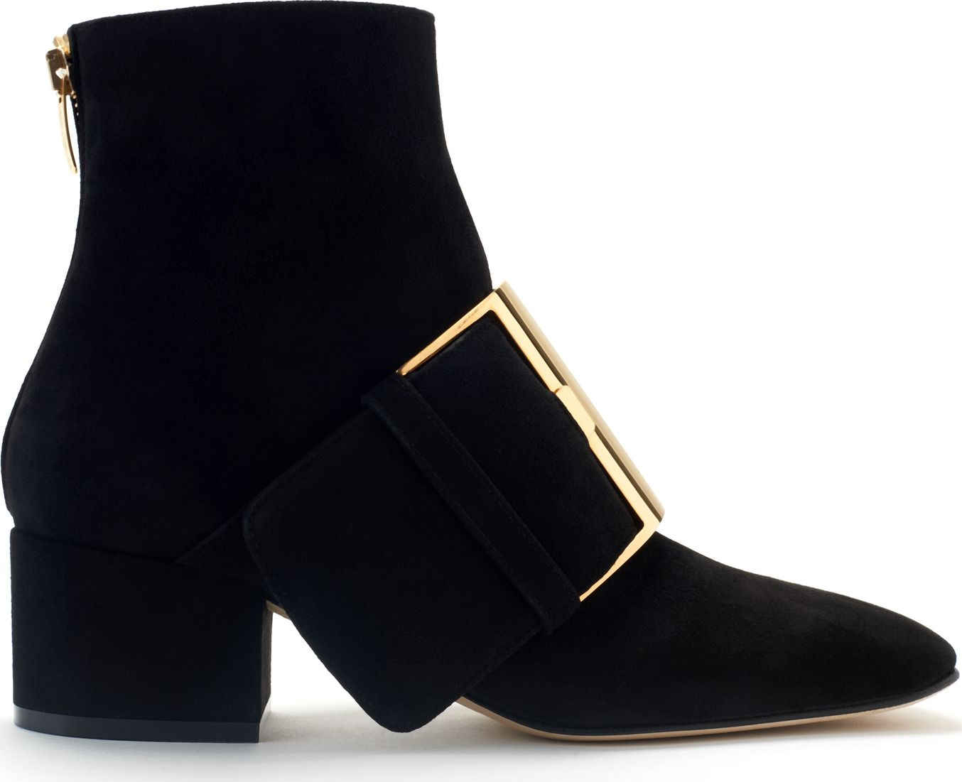 Sergio Rossi - Buckled Suede Ankle Boots