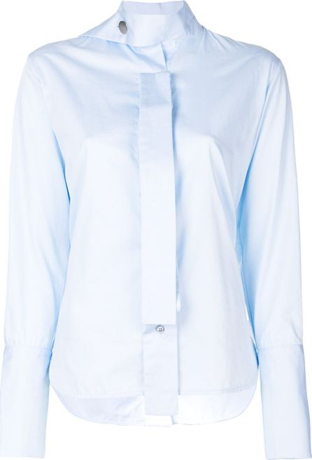 Eudon Choi drape neck button shirt