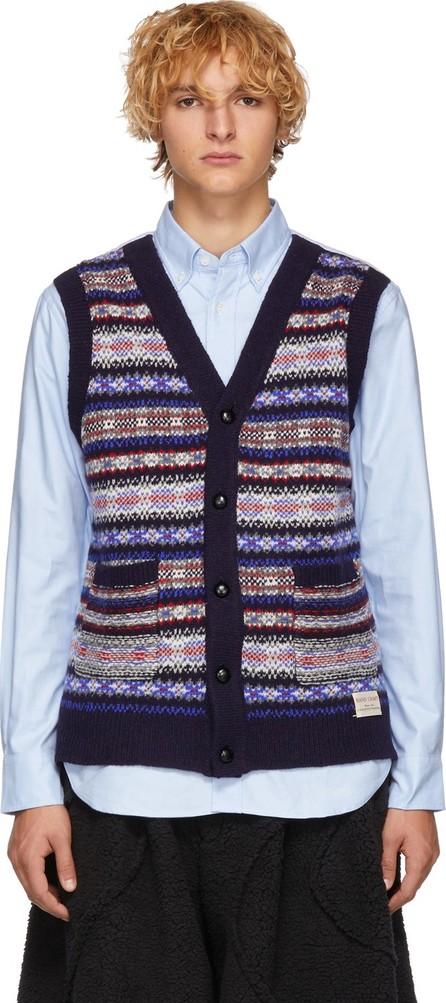 Comme des Garçons Homme Navy Oxford Wool Knit Shirt