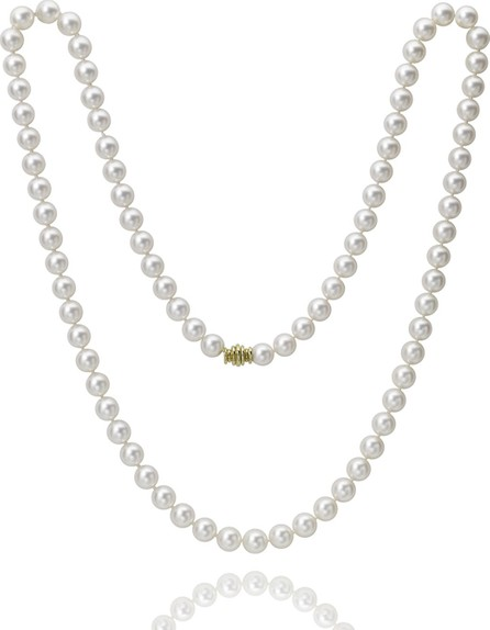 "Assael Long Akoya 8.5mm Pearl-Strand Necklace w/ 18k Gold, 32""L"