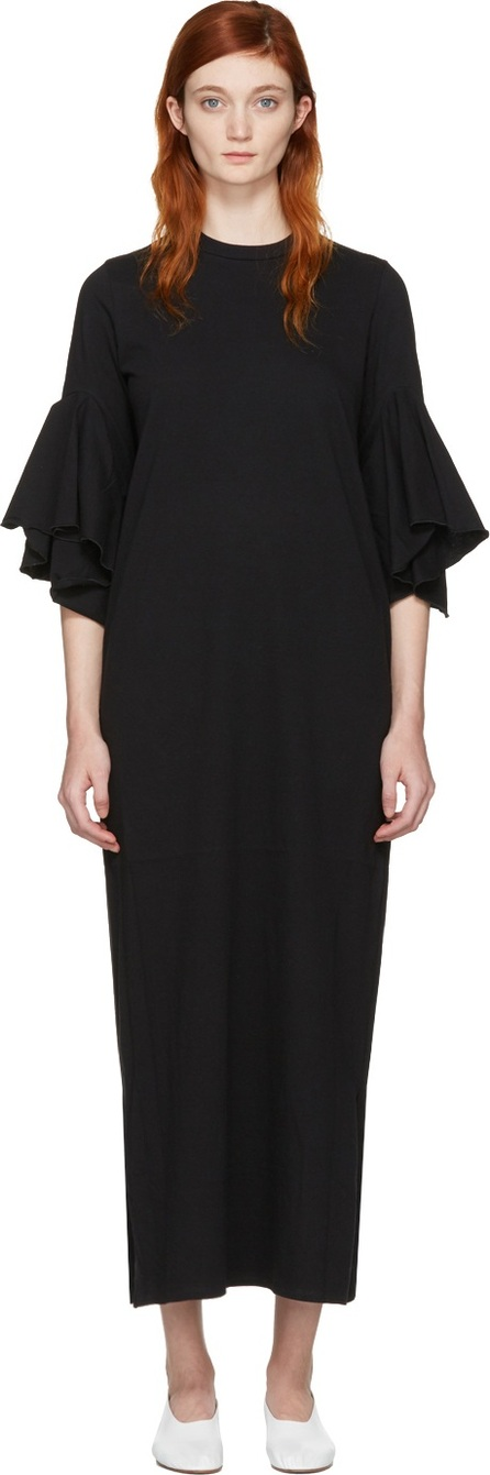 FACETASM Black Flare Sleeve Dress