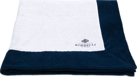 Borrelli Logo embroidered beach towel