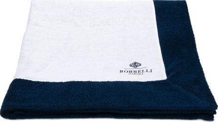 Borrelli Logo embroidered beach towel