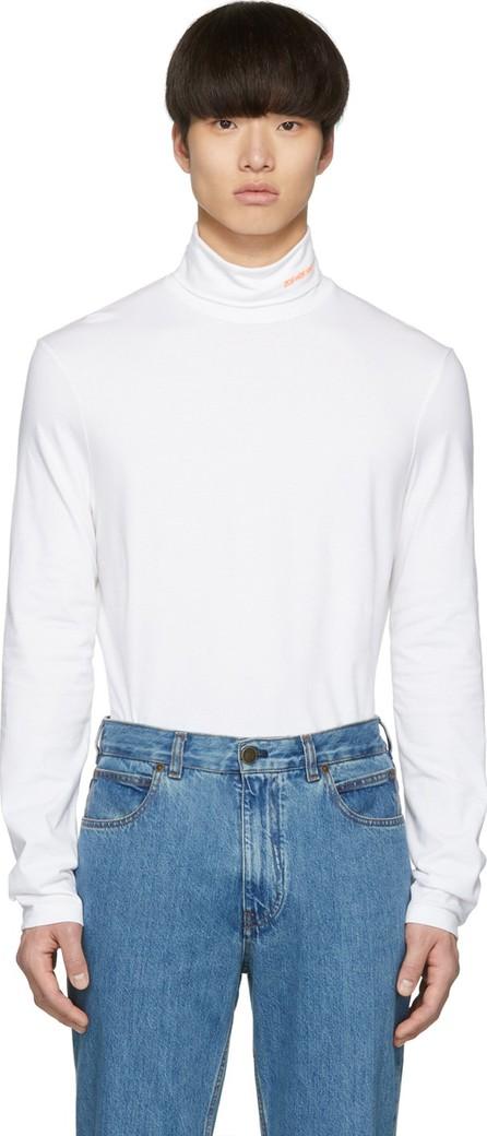Calvin Klein 205W39NYC White Stretch Logo Turtleneck