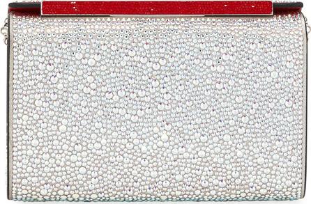 Christian Louboutin Vanite Small Metallic Crystal-Encrusted Suede Clutch Bag