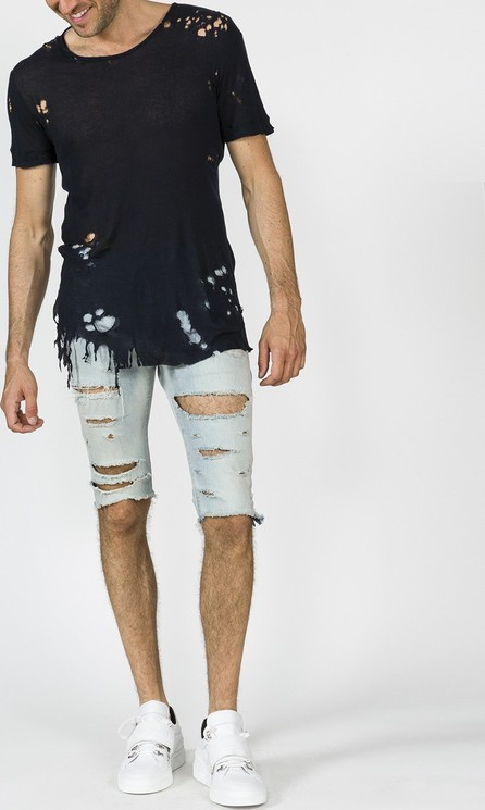 Balmain destroyed denim shorts