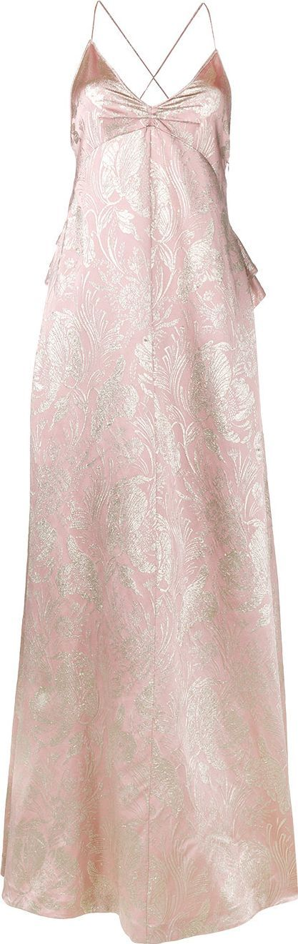 ROCHAS Brocade silk evening dress