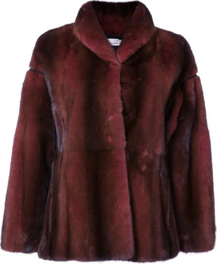 Oscar De La Renta Shawl collar fur jacket