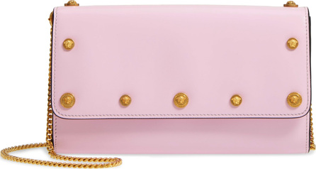 Versace Studded Leather Wallet on a Chain