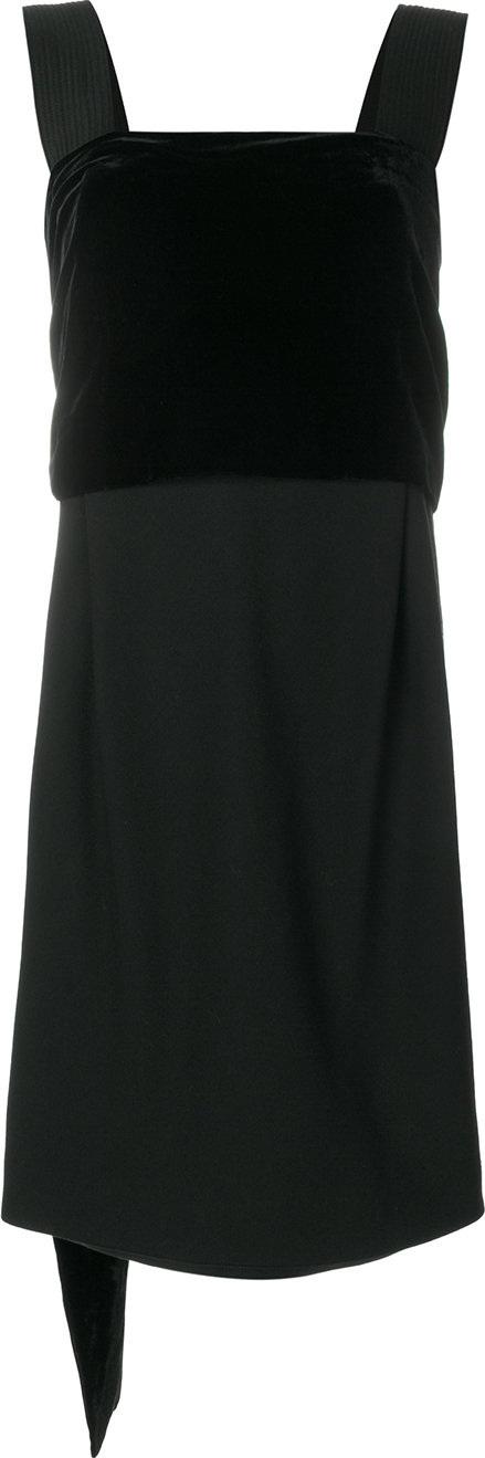 Versace Square neck mini dress