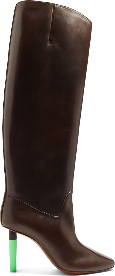 Vetements Highlighter-heel leather knee-high boots