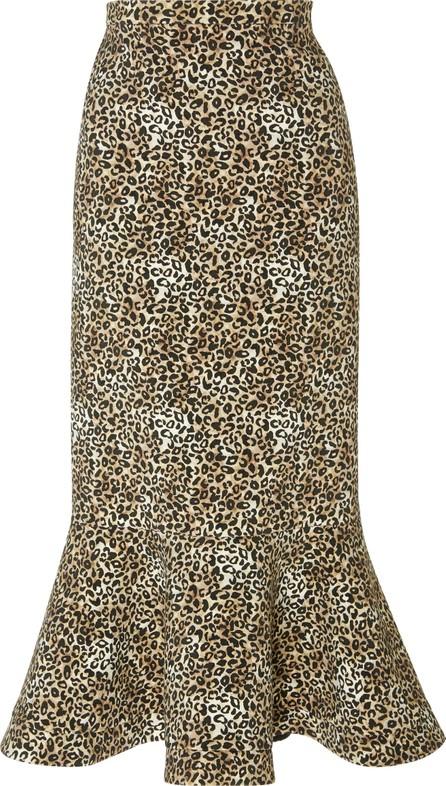 Saloni Portia Crepe Midi Skirt