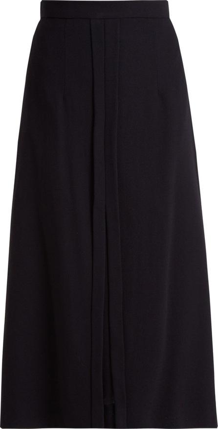 Goat Garnet wool-crepe skirt