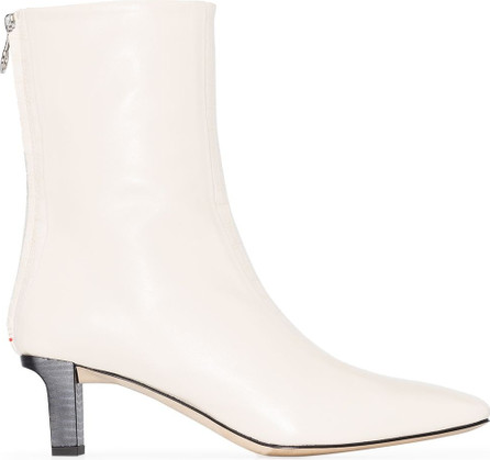 Aeyde Molly 55m snake-effect ankle boots