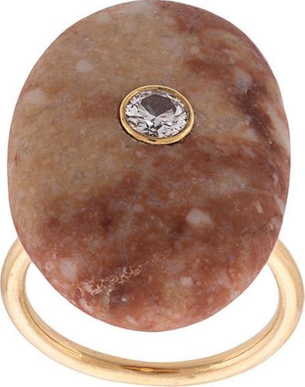 Cvc Stones Imperial topaz and diamond ring