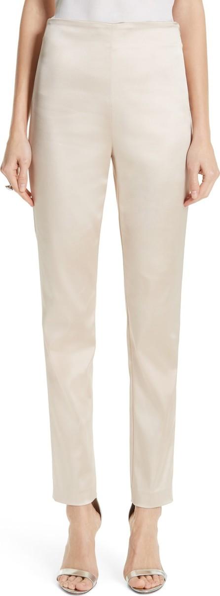 St. John Structured Stretch Satin Skinny Pants