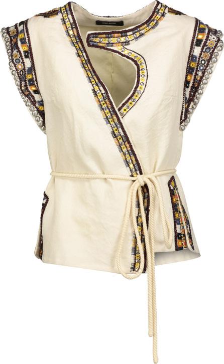 Isabel Marant Blaine embellished wool-crepe vest