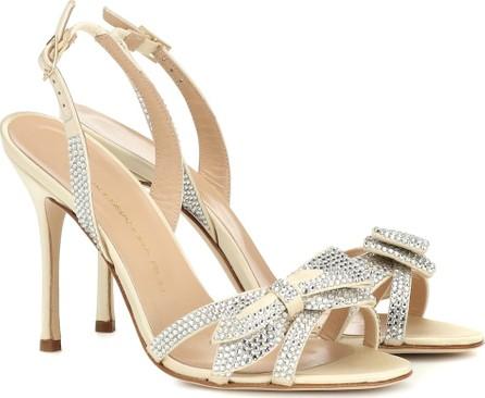 Alessandra Rich Crystal-embellished satin sandals