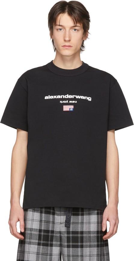 Alexander Wang Black Graphic Logo T-Shirt