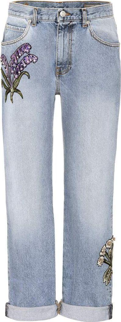 Alexander McQueen Crystal-embellished jeans