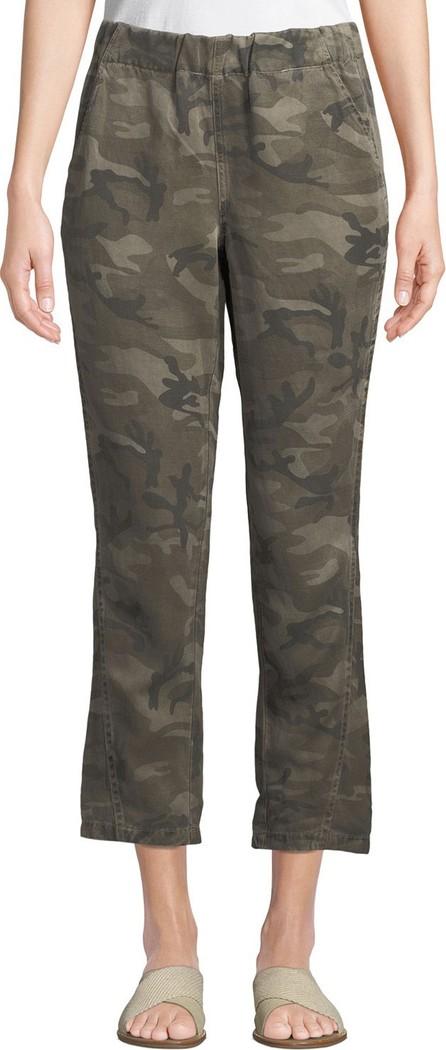 AMO Slouchy Camo-Print Cropped Pants
